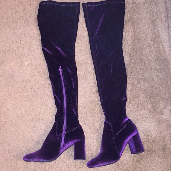 ef34f6a5d40b Jeffrey Campbell Shoes - Jeffrey Campbell thigh high purple velvet boots